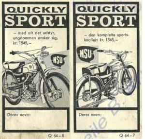 Prospekt Modell Quickly Sport